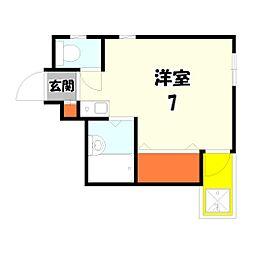 サンユーハイムウメザワ[203号室]の間取り