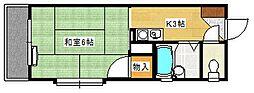 草津東ビル[301号室]の間取り