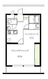 染谷コーポ[105号室]の間取り