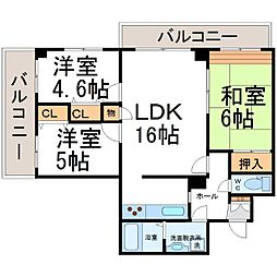 アミング潮江15−3[5階]の間取り