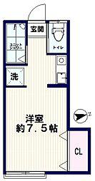 AZUMI-SOU(アズミソウ)[205号室]の間取り