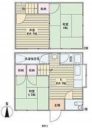 [タウンハウス] 兵庫県姫路市広畑区早瀬町2丁目 の賃貸【/】の間取り