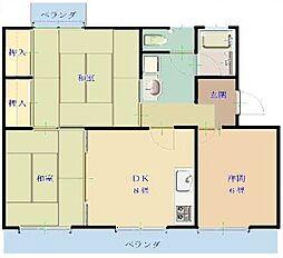 角内マンション[2階]の間取り