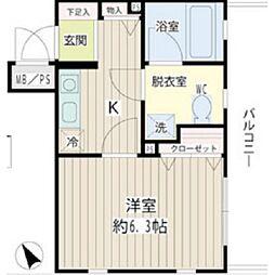 アイビー菅沢[3階]の間取り