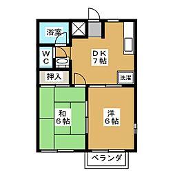 RRハイツ A棟[1階]の間取り