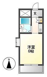 ドール神宮西[6階]の間取り