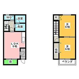 [テラスハウス] 愛知県岩倉市鈴井町蔵前 の賃貸【/】の間取り