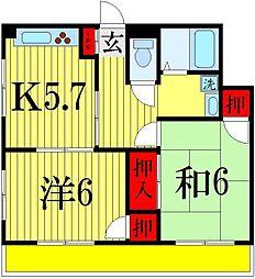 ハートピア小林[1階]の間取り