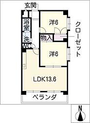 エンジェルハウス[1階]の間取り
