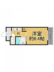 第6カシノハイツ[3階]の間取り