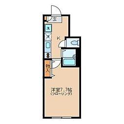 グランパルク駒場野[1階]の間取り
