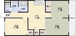 カサグレープ[3階]の間取り