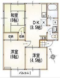 コーポタカ[2階]の間取り