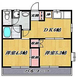 ルミエール宮崎台[205号室号室]の間取り