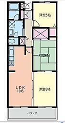 ファミーユ高座渋谷[503号室]の間取り