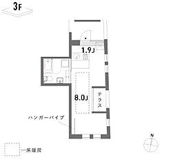 新築 荘[302号室号室]の間取り