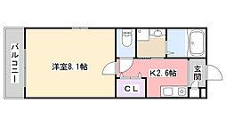 Marina Palace薬円台[202号室]の間取り