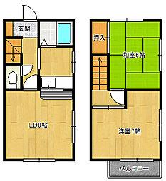 [テラスハウス] 千葉県船橋市前原東3丁目 の賃貸【/】の間取り