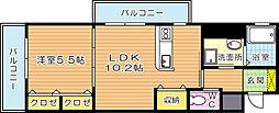 シグナス[406号室]の間取り