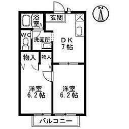 セフィラ北斎院[A-103 号室号室]の間取り