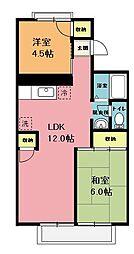 セジュール鈴栄[2階]の間取り