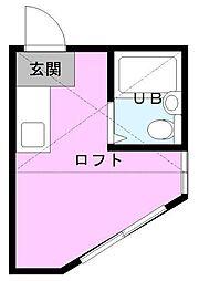 埼玉県川口市芝富士1丁目の賃貸アパートの間取り