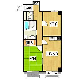 ドルチェ椥辻[4階]の間取り