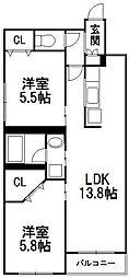 北海道札幌市中央区南八条西12丁目の賃貸マンションの間取り