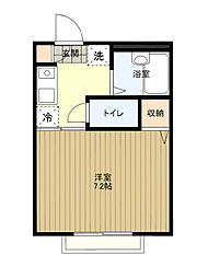 東京都八王子市台町4丁目の賃貸アパートの間取り