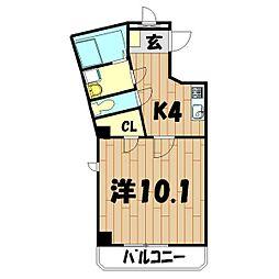 ヤマトエストASAHIYA[501号室]の間取り