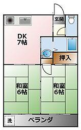 アニバーサリー40[4階]の間取り