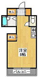フレーヴァー深草II[1階]の間取り