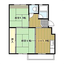 大和大塚戸[4-446号室]の間取り