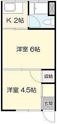 高橋アパート[1号室]の間取り