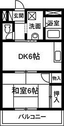 松井コーポ[303号室]の間取り