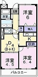 メゾン辻ヶ花[1階]の間取り