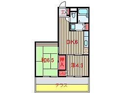 山口マンション (0070)[102号室]の間取り