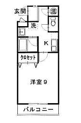 ワンズホーム錦町[306号室]の間取り