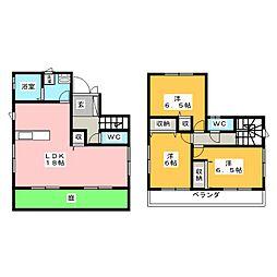 [一戸建] 静岡県静岡市駿河区曲金6丁目 の賃貸【/】の間取り