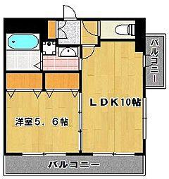 ラ・ヴェリテ 筑紫通り[2階]の間取り