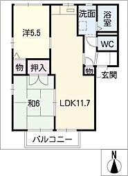 オークビレッジ A棟[2階]の間取り