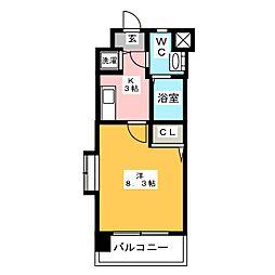 エンクレスト博多II[8階]の間取り