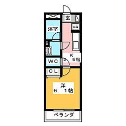 I's岐阜駅前 4階1Kの間取り