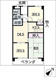 フェステ菊屋第6[3階]の間取り