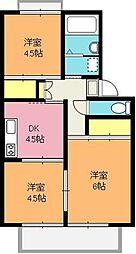 堀井コーポ[2階]の間取り