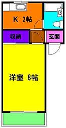 静岡県浜松市東区子安町の賃貸アパートの間取り