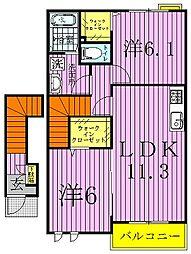 モデルノパレスII[2階]の間取り