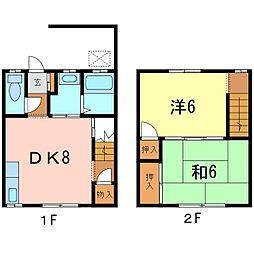 [テラスハウス] 愛知県知立市中町家下 の賃貸【愛知県 / 知立市】の間取り