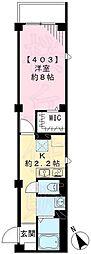 東京都世田谷区等々力4丁目の賃貸マンションの間取り
