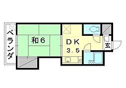 城北電気ビル[302 号室号室]の間取り